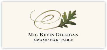 Swamp Oak Swirly Leaf Place Cards