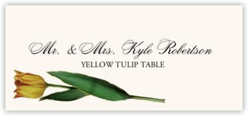 Tulip Bulbs Place Cards