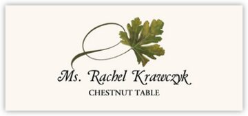 Chestnut Twisty Leaf Place Cards