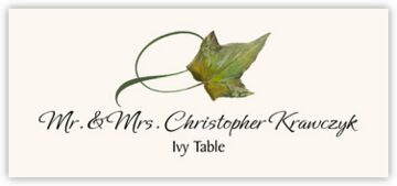 Ivy Twisty Leaf Place Cards