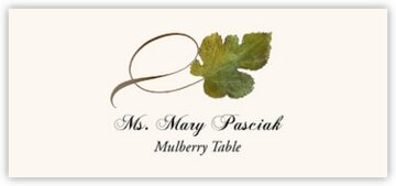 Mulberry Twisty Leaf Place Cards