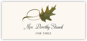 Oak Twisty Leaf Place Cards