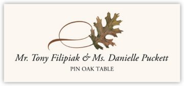 Pin Oak Twisty Leaf Place Cards