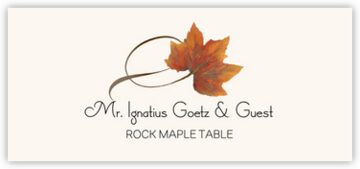 Rock Maple Twisty Leaf Place Cards