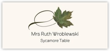 Sycamore Twisty Leaf Place Cards