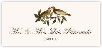 Brown Birds Place Cards