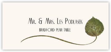 Bradford Pear Wispy Leaf Place Cards