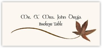 Buckeye Wispy Leaf Place Cards