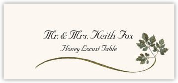 Honey Locust Wispy Leaf Place Cards