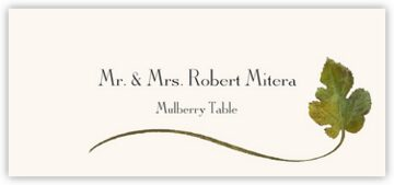 Mulberry Wispy Leaf Place Cards