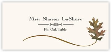 Pin Oak Wispy Leaf Place Cards
