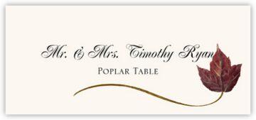 Poplar Wispy Leaf Place Cards