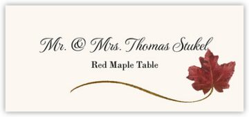 Red Maple Wispy Leaf Place Cards