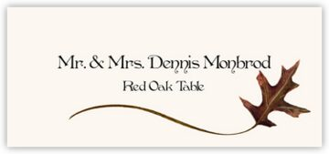 Red Oak Wispy Leaf Place Cards