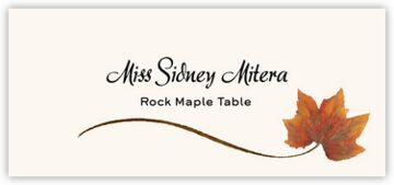 Rock Maple Wispy Leaf Place Cards