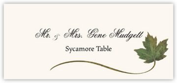 Sycamore Wispy Leaf Place Cards