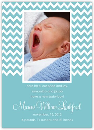 Jagged Artisan Birth Announcements