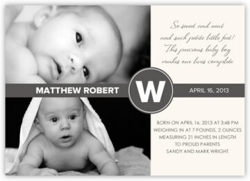 Monochromatic Birth Announcements