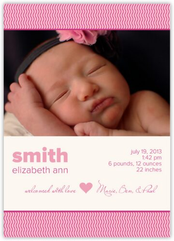 Baby's Bottom Birth Announcements