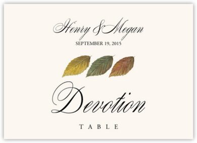 Leaf Pattern Assortment Table Names