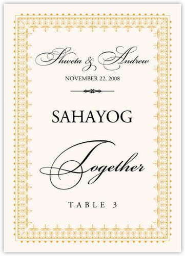 Hindi table names indian wedding table names wedding for Table design names