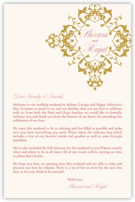 Diamond Mandala Welcome Letter
