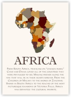 Map of Africa 2 Memorabilia Cards