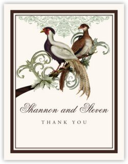 Asian Peace Birds Thank You Notes