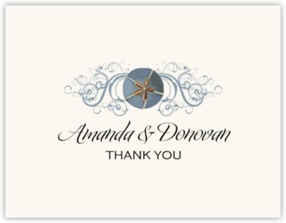 Blue Sand Dollar Thank You Notes