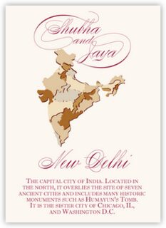 Map Of India Memorabilia Cards