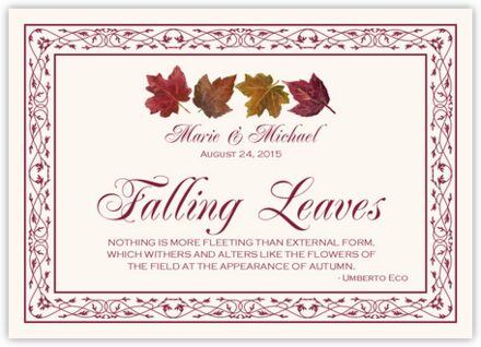 Maple Leaf Pattern Memorabilia Cards