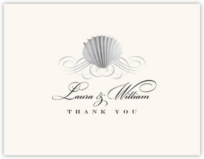 Seashell Scallop Swirl Thank You Notes