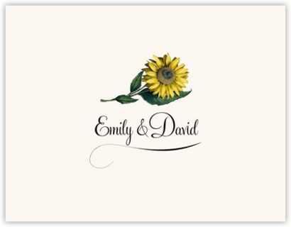 Sunflower Thank You Notes