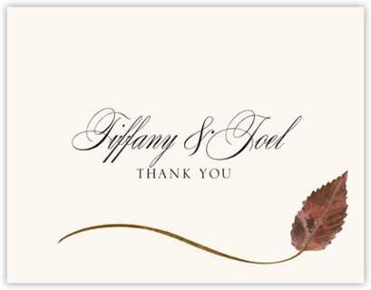 Ironwood Wispy Leaf Thank You Notes