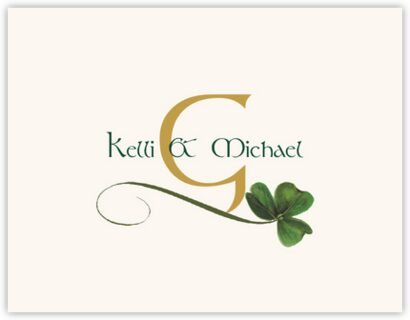 Wispy Shamrock Thank You Notes