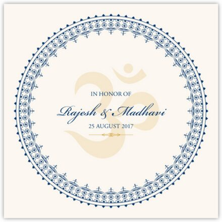 Aum Watermark Wedding Programs