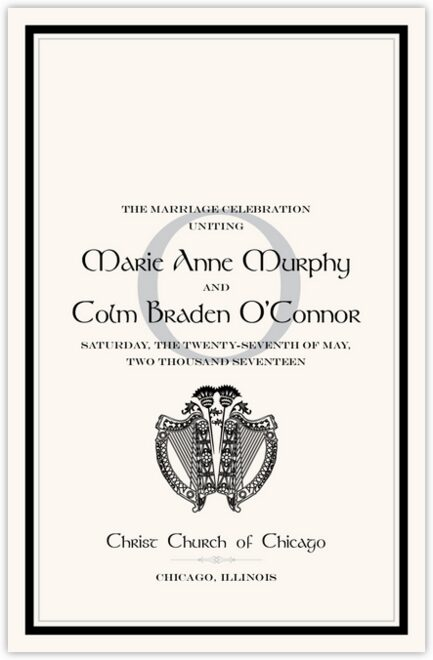 Harp and Thistle Wedding Programs