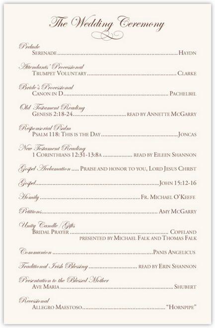 Edwardian Watermark Wedding Programs