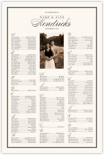 Forever Summer Seating Charts