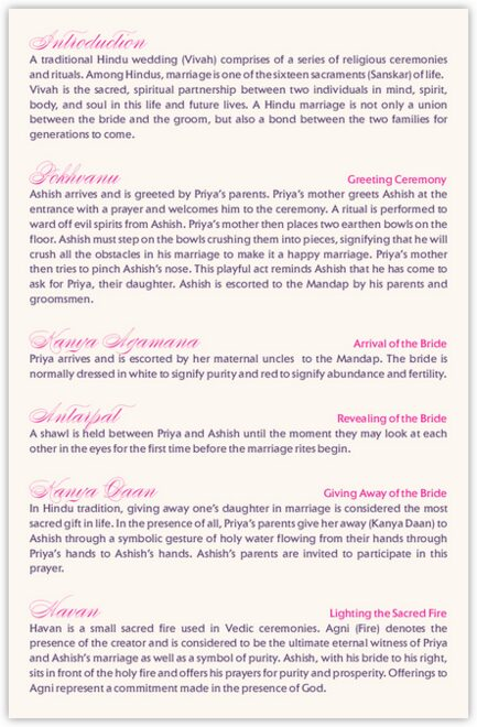 Gingee Ganesha Wedding Programs