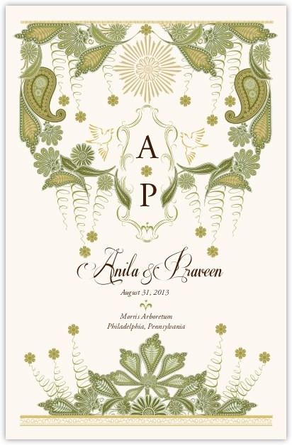Paisley Forest Wedding Programs