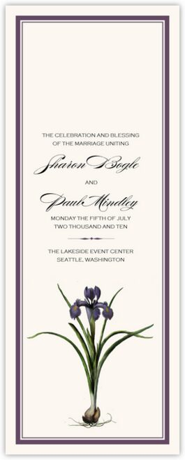 Iris Bulb Wedding Programs
