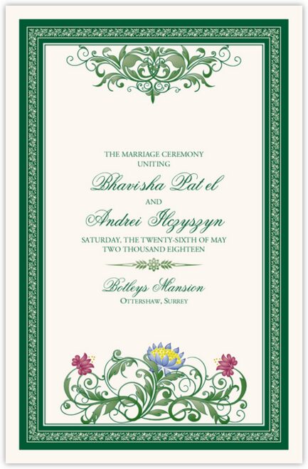 Moon Bloom Wedding Programs