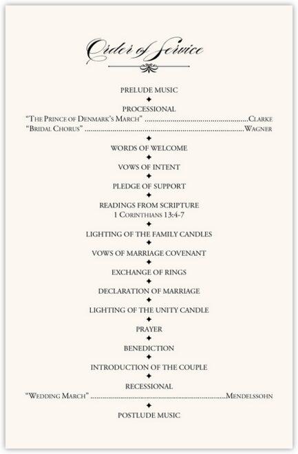 Nighthawk Flourish Birds Wedding Programs