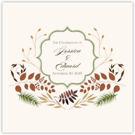 Peaceful Autumn 04 Wedding Programs