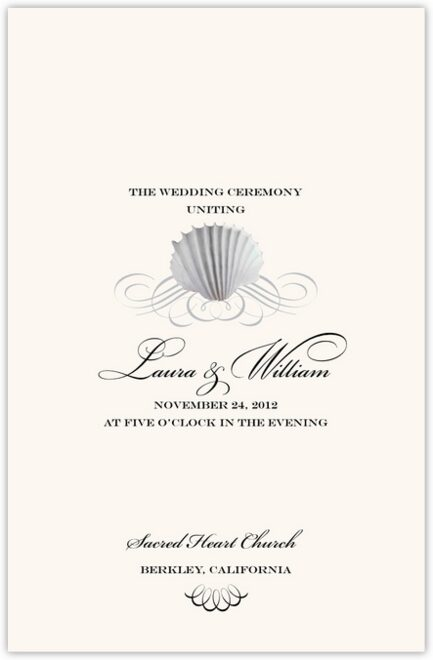 Seashell Scallop Swirl Wedding Programs