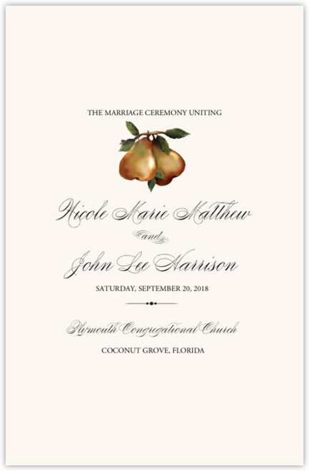 Two Pears Wedding Programs