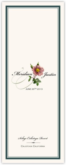 Wild Pink Rose Swirl Wedding Programs