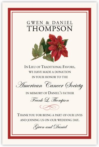 Poinsettia Donation Cards