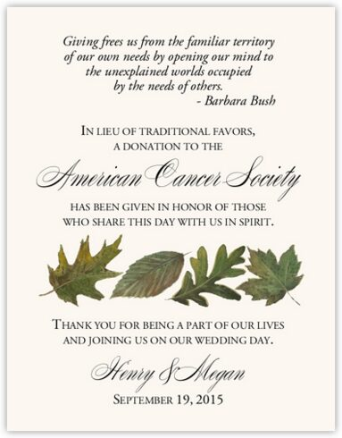Leaf Pattern Assortment Donation Cards